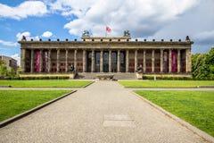 Altes museum Tyskt gammalt museum i Berlin, Tyskland Arkivfoton