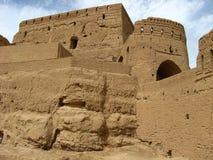 Altes Narin-Schloss in Meybod, Yazd-Provinz, der Iran Lizenzfreies Stockfoto