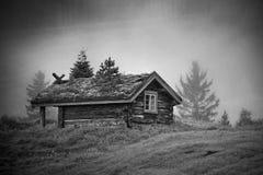 Altes Norwegen-Haus Stockfotos