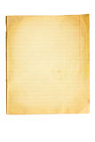 Altes Notizbuch des Blattes Stockfotos