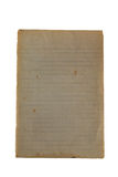 Altes Notizpapier, zum des Gelb färbens, freier Raum aufzudecken, gezeichnet Lizenzfreies Stockbild