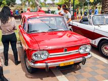 Altes NSU Prinz 1000 an einer Ausstellung von alten Autos im Kiryat Motskin Stockfotos
