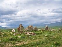 Altes Observatorium von Zorats Karer, Karahunj, berühmter Armenian Stonhenge in Sisian, Armenien 4 stockfoto