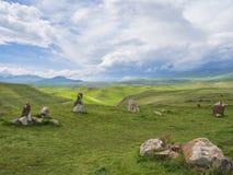 Altes Observatorium von Zorats Karer, Karahunj, berühmter Armenian Stonhenge in Sisian, Armenien 21 stockfoto