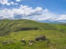 Altes Observatorium von Zorats Karer, Karahunj, berühmter Armenian Stonhenge in Sisian, Armenien 24 stockfotografie