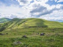 Altes Observatorium von Zorats Karer, Karahunj, berühmter Armenian Stonhenge in Sisian, Armenien 27 lizenzfreies stockfoto