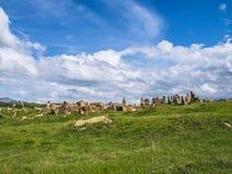 Altes Observatorium von Zorats Karer, Karahunj, berühmter Armenian Stonhenge in Sisian, Armenien 28 lizenzfreie stockfotos