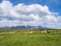 Altes Observatorium von Zorats Karer, Karahunj, berühmter Armenian Stonhenge in Sisian, Armenien 30 lizenzfreies stockbild