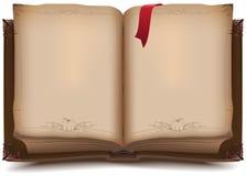 Altes offenes Buch für Halloween Stockfotografie