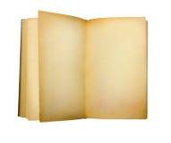 Altes offenes Buch lokalisiert auf Weiß. Lizenzfreie Stockbilder