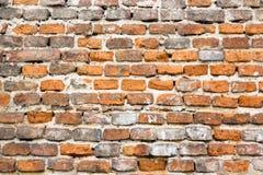 Altes, orange Braun, Weinlese, schäbig, Backsteinmauer, abstrakter industrieller Hintergrund Stockbilder