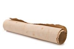 Altes Papier auf einem weißen Hintergrund für Ihr illustrat Stockfoto