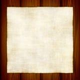 Altes Papier auf Holz stock abbildung