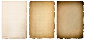 Altes Papier bedeckt Beschaffenheit mit dunklen Rändern Geometrische Verzierung auf einem alten Papier