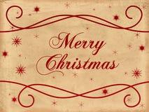 Altes Papier der frohen Weihnachten Stockbilder