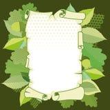 Altes Papier der Rolle in einem Rahmen Stockbild