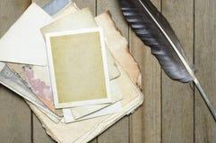 Altes Papier der Weinlese Stockbilder