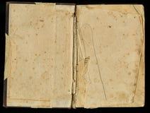 Altes Papier des Schmutzes für Schatzkarte oder -weinlese Aufgeklapptes dunkles befleckemes Papier des Buches Lizenzfreie Stockbilder