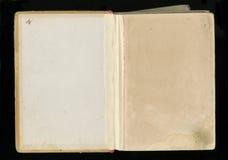 Altes Papier des Schmutzes für Schatzkarte oder -weinlese Aufgeklapptes dunkles befleckemes Papier des Buches Stockfotos