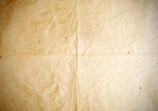 Altes Papier faltet Beschaffenheiten, Weinlesehintergrund Stockfoto