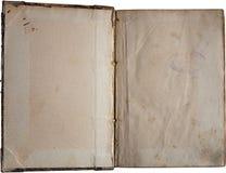 Altes Papier getrennt auf Weiß Stockfotografie