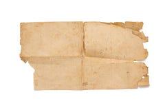 Altes Papier lokalisiert auf Weiß lizenzfreies stockbild