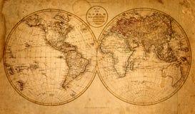 Altes Papier mit Abbildung einer Karte Geschichtshintergrund stockfoto