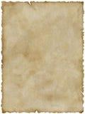 Altes Papier (mit Ausschnittspfad) Stockfotografie