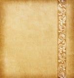 Altes Papier mit Blumenverzierung Lizenzfreie Stockfotos