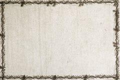 Altes Papier mit einem grunge Feld Stockfotografie