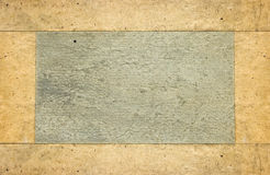 Altes Papier mit Feld Lizenzfreie Stockbilder