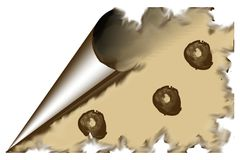 Altes Papier mit Kaffee-Flecken lizenzfreies stockfoto