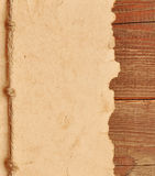 Altes Papier mit Seilrand Stockbild