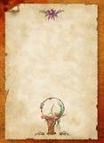 Altes Papier mit Victorianmustern stock abbildung