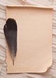 Altes Papier und Feder Stockfotografie