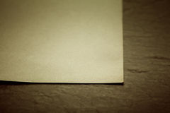 Altes Papierblatt Stockfoto