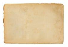 Altes Papierblatt Stockfotografie