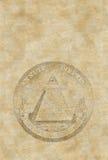 Altes Papierblatt mit Pyramide Lizenzfreie Stockbilder