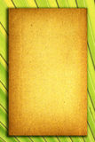 Altes Papiernotizbuch für Text und Hintergrund Lizenzfreie Stockbilder