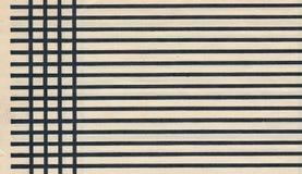 Altes Papierseitenblatt mit schwarzer Linie Hintergrund Lizenzfreie Stockbilder