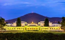 Altes Parlamentsgebäude, von 1927 bis 1988 gedient Canberra, Australien Lizenzfreie Stockfotos