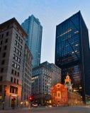 Altes Parlamentsgebäude nachts in Boston, USA Lizenzfreies Stockbild