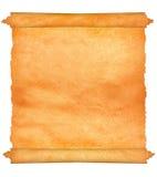 Altes Pergament mit gezackten Rändern. lizenzfreie stockfotografie