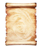 Altes Pergament-romantischer Papierhintergrund Lizenzfreie Stockfotografie