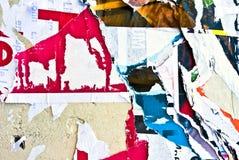 Altes Plakate grunge Lizenzfreies Stockfoto