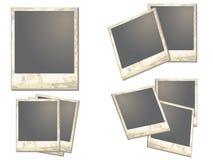 Altes polaroidfeld Stockbild