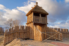 Altes polnisches Dorf Stockbild