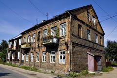 Altes polnisches Haus Stockbild