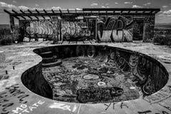 Altes Pool bei zwei Gewehren Stockfotografie