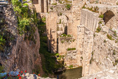 Altes Pool von Bethesda-Ruinen Alte Stadt Jerusalem Lizenzfreies Stockbild
